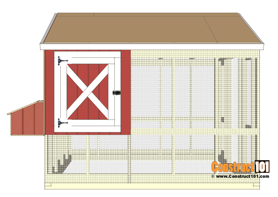8x10 chicken coop plans - door.