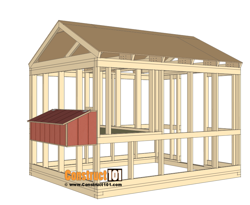 8x10 chicken coop plans - nest box.