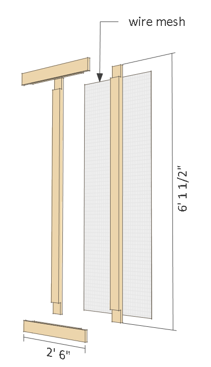 8x10 chicken coop plans gable roof - right side door parts.