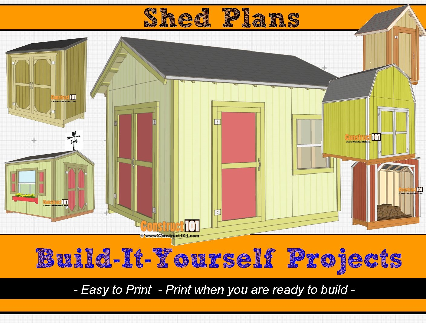 Shed Plans - PDF Download - Material List - Drawings