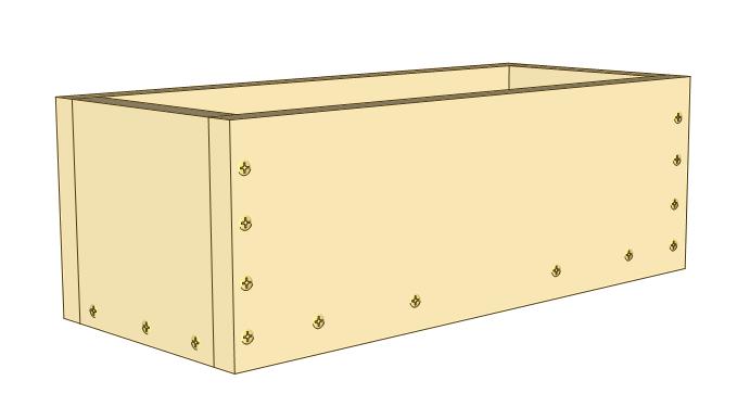 3 tier planter plans - assemble planter box.