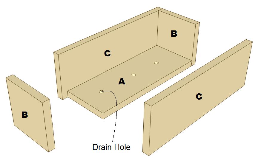 3 tier planter plans - planter box parts.