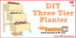 3 tier planter plans, free PDF download.