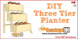3 tier planter plans, free PDF download.