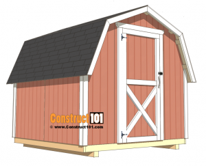 8x8 shed plans - DIY free PDF download.