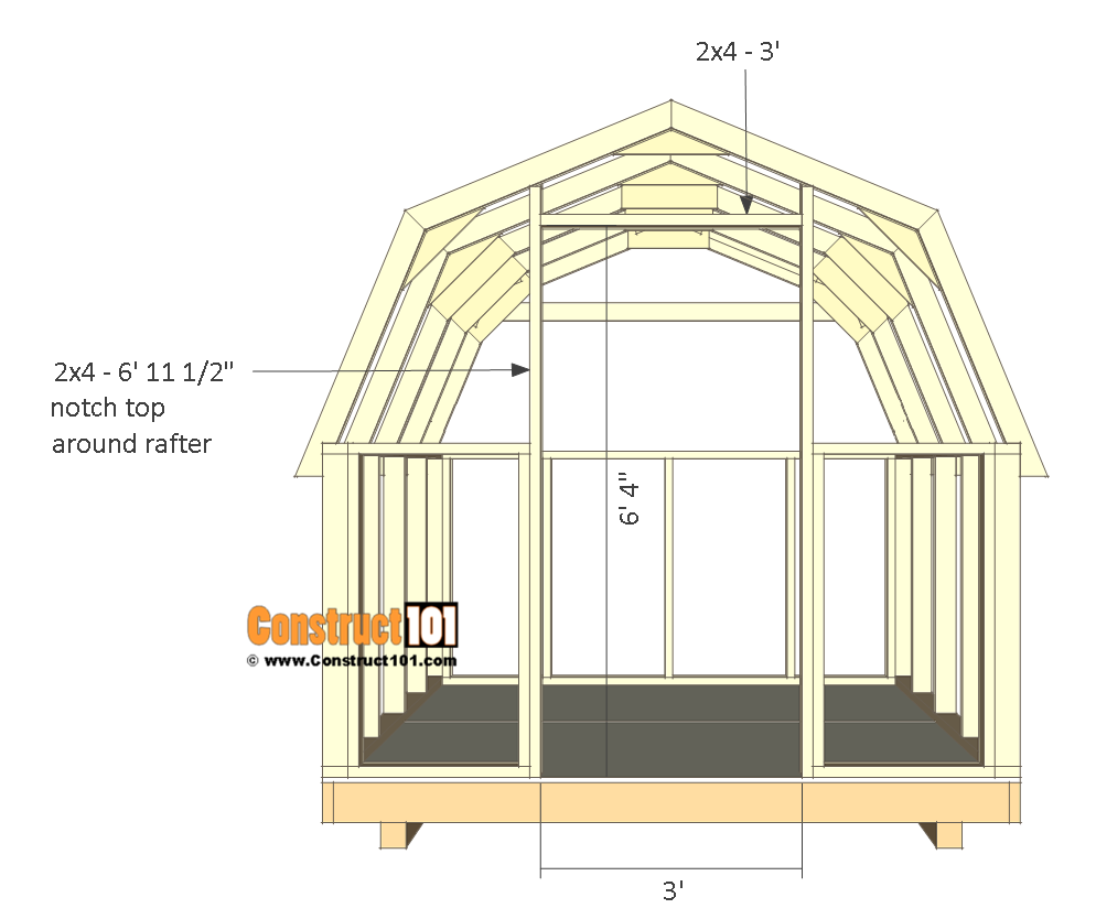 8x8 shed plans - small barn - door frame.