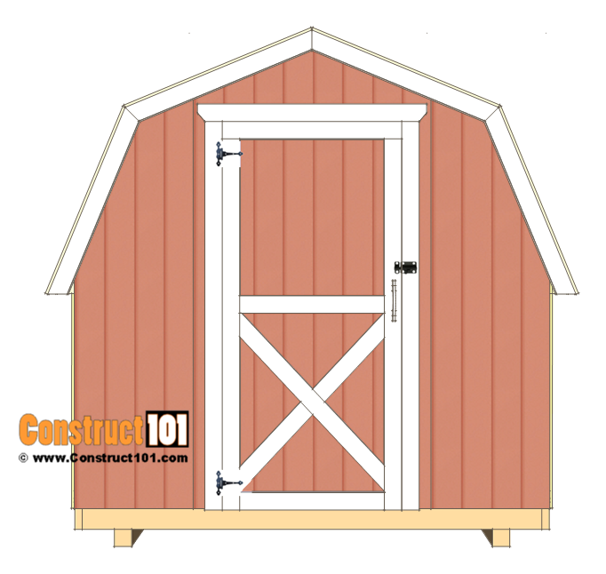 8x8 shed plans - small barn - door hinges.