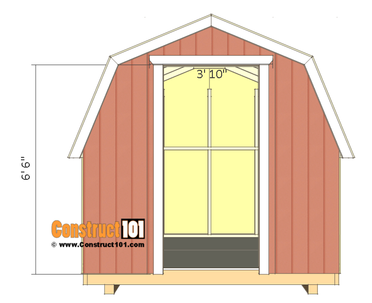 8x8 shed plans - small barn - door trim.