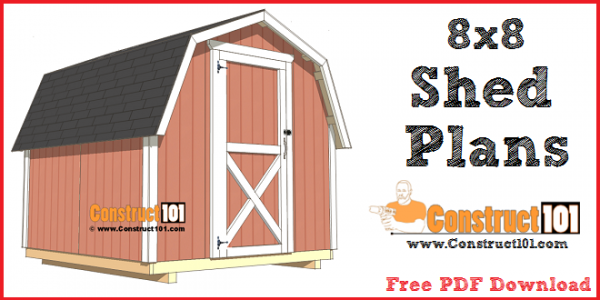 8x8 shed plans - small barn - free PDF download, step-by-step plans.