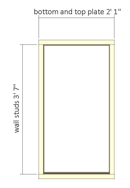 8x8 shed plans - small barn - front wall frame.