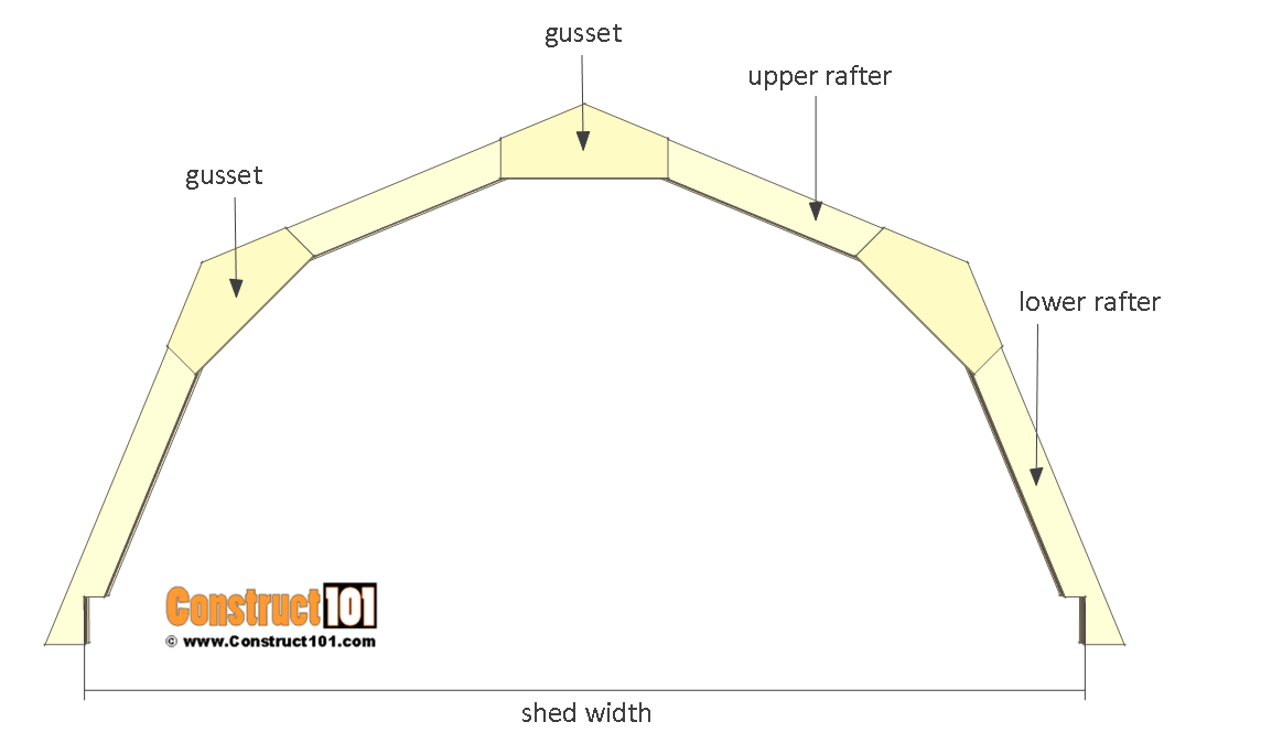 8x8 shed plans - small barn - truss details.