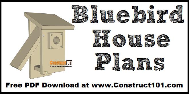 DIY bluebird house, free plans.