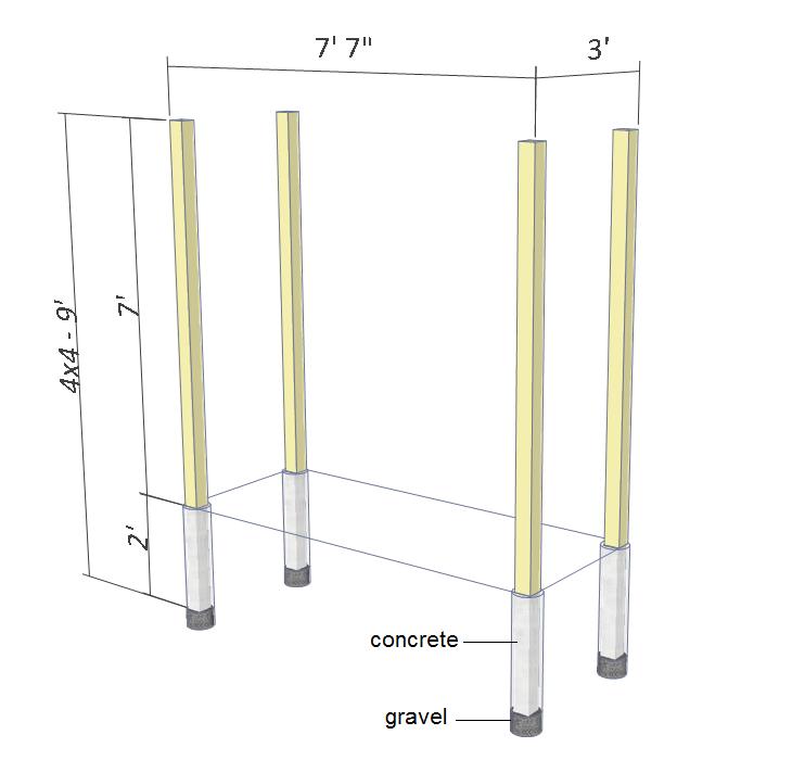 Arbor swing plans - 4x4 post.
