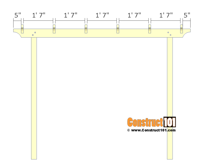 Arbor swing plans - rafter details.