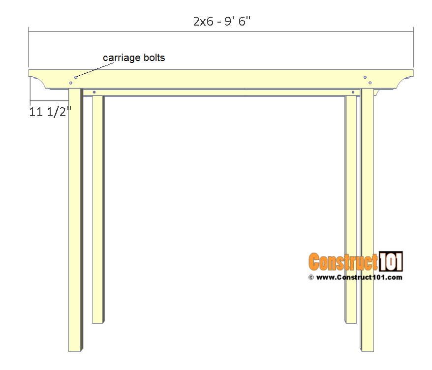 Arbor swing plans - rafter supports.