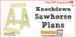 Knockdown sawhorse plans - free PDF download, material list, drawings, and step-by-step instructions.