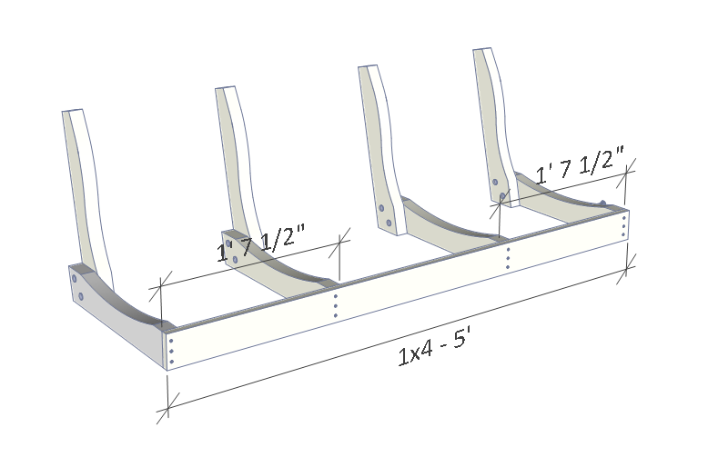 Porch swing plans - front 1x4 support.