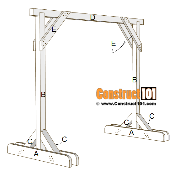 Porch Swing Stand Plans Free Pdf, How To Build A Patio Swing Frame
