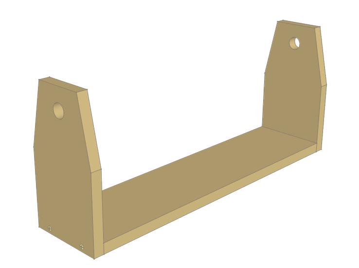 Wooden chicken feeder plans - sides attached.