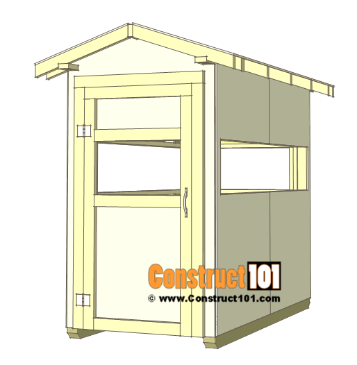 Deer stand plans 4x8 - door hinges and handle.