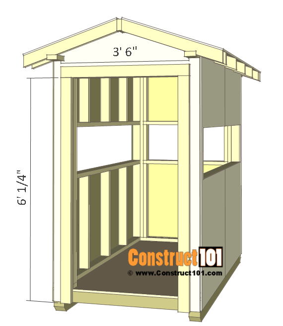 Deer stand plans 4x8 - door opening trim.