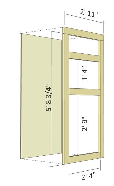 Deer stand plans 4x8 - door.