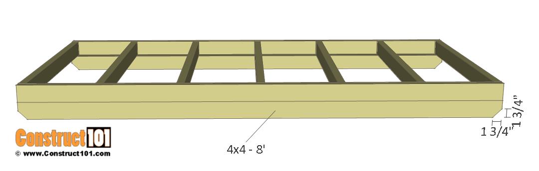 Deer stand plans 4x8 - floor skids.
