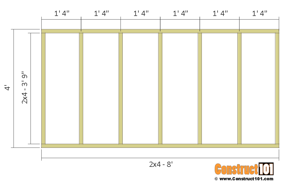 Deer stand plans 4x8 - floor frame.