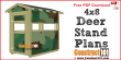 Deer stand plans 4x8 - free PDF download.