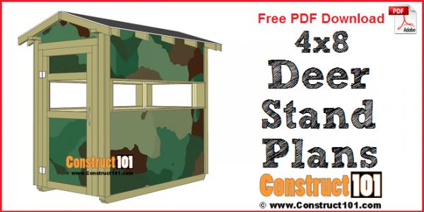 Deer stand plans 4x8 - free PDF download.