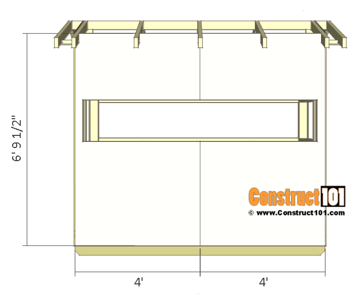 Deer stand plans 4x8 - front/back siding.