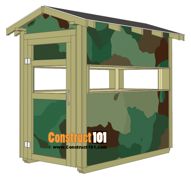 Deer stand plans 4x8 - shingles and paint.