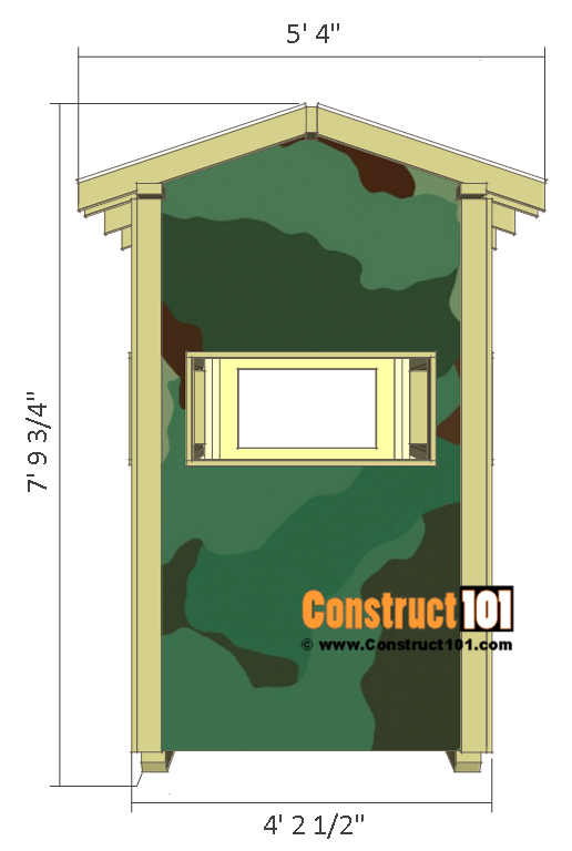 Deer stand plans - 4x8 - right side.
