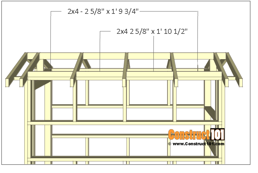 Deer stand plans 4x8 - blocking.