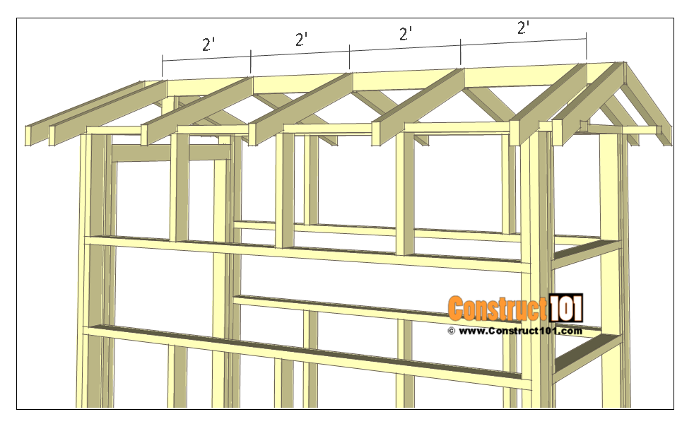 Deer stand plans 4x8 - rafters.