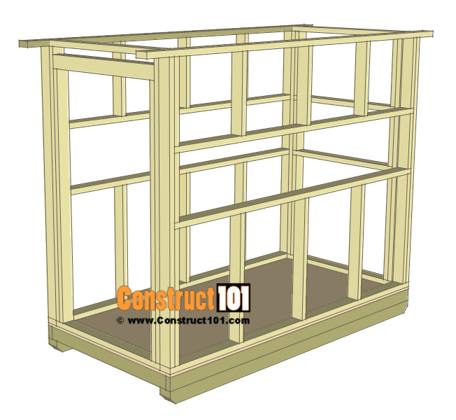 Deer stand plans 4x8 - wall framing.