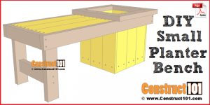 DIY small planter bench - free PDF download.