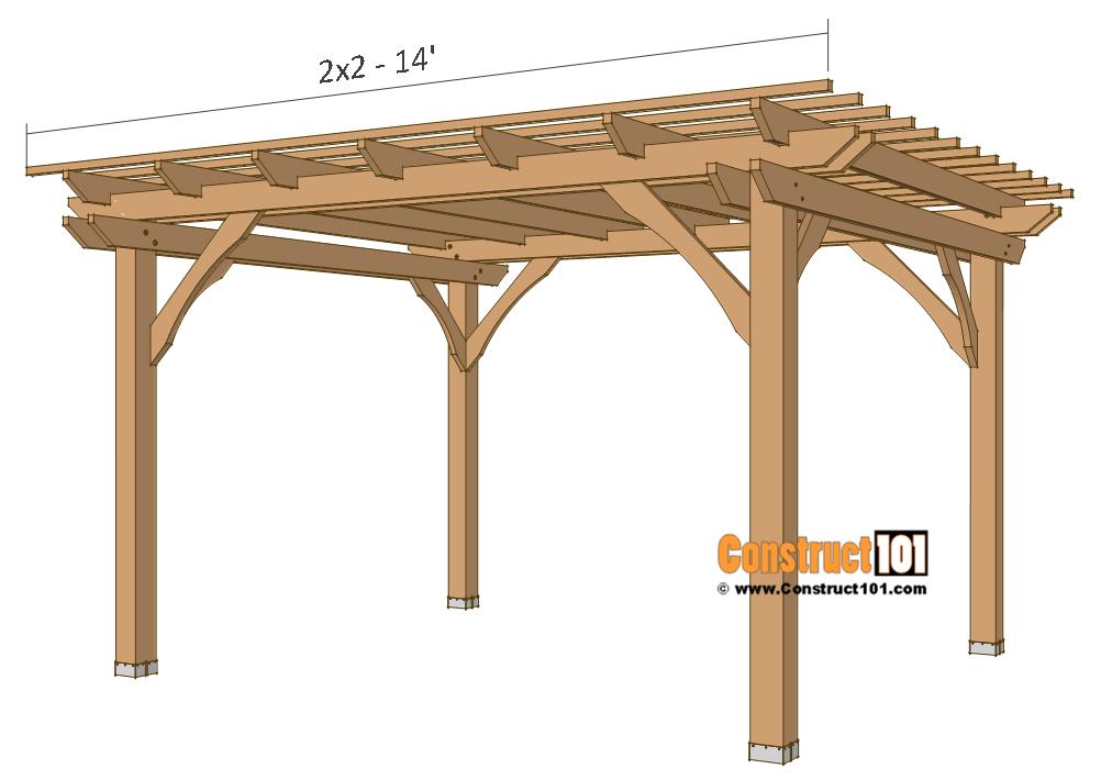 Pergola plans - 10x12 - slats.