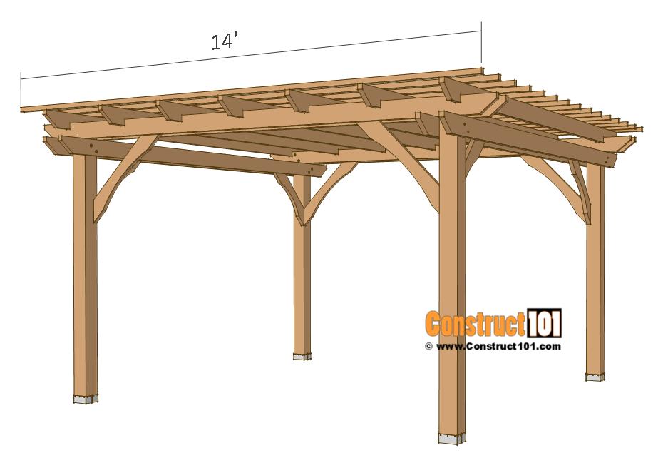 12x12 pergola plans - 2x2 top slats.