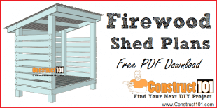 Firewood shed plans, free PDF download, DIY projects at Construct101