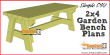 Simple 2x4 garden bench plans, free PDF download at Construct101