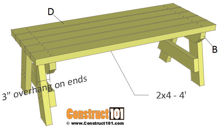 Simple 2x4 Garden Bench Plans Free Pdf Download