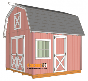 12x12 barn shed plans - free PDF download at Construct101