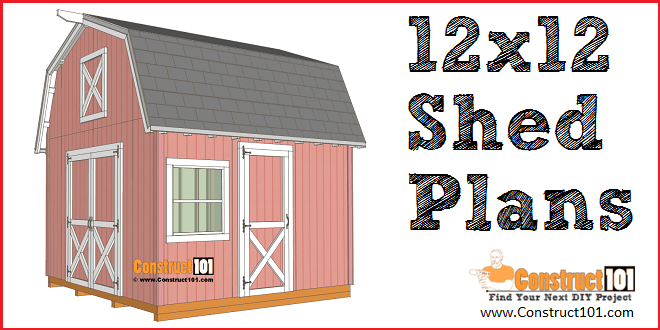 12x12 barn shed plans - free PDF download, material list. and drawings. DIY projects at Construct101