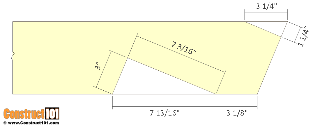 12x12 barn shed plans - lower chord, rafter end details.