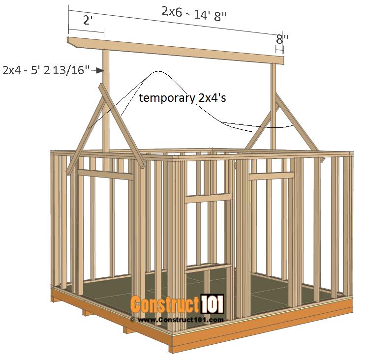 12x12 barn shed plans - ridgeboard.