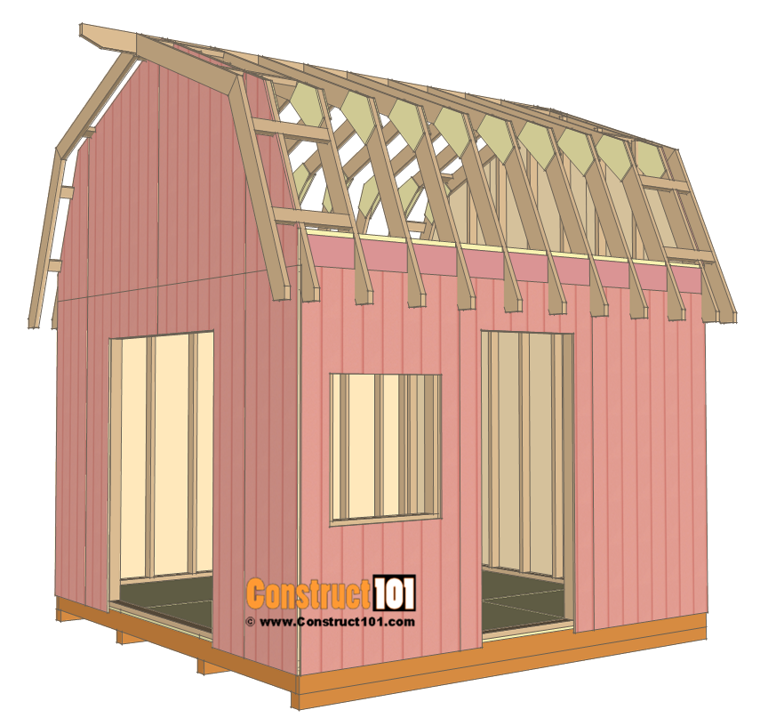 12x12 Barn Shed Plans With Overhang Free Pdf Construct101