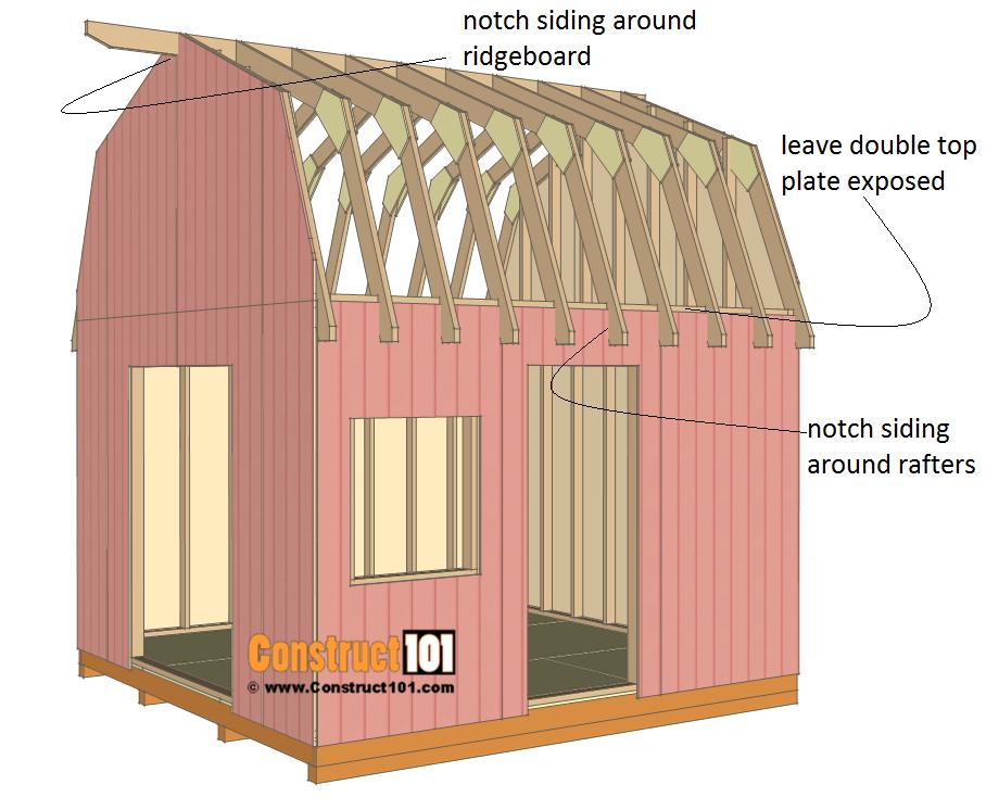 12x12 barn shed plans - siding.