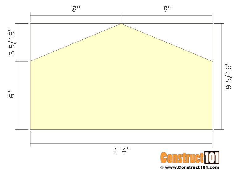12x12 barn shed plans - truss gusset.