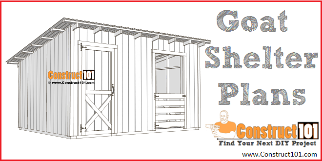 10x14 goat shelter plans with storage - free PDF download at Construct101
